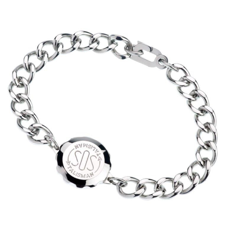 Stainless Steel Plain Bracelet & Capsule - Medical ID Jewellery