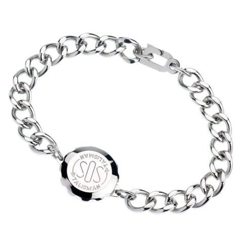 Stainless Steel Plain Bracelet & Capsule - Medical/identification jewellery  235501 GENTS
