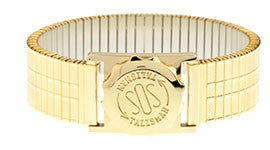 Gents Gold Tone Watch Capsule & Strap gents 237128 18mm