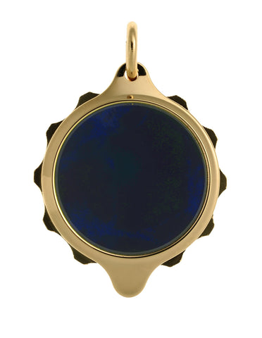 Gold Plated (Coloured Pendant with chain) - Blue