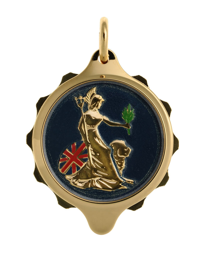 Gold Plated (Coloured Pendant with chain) - Britannia