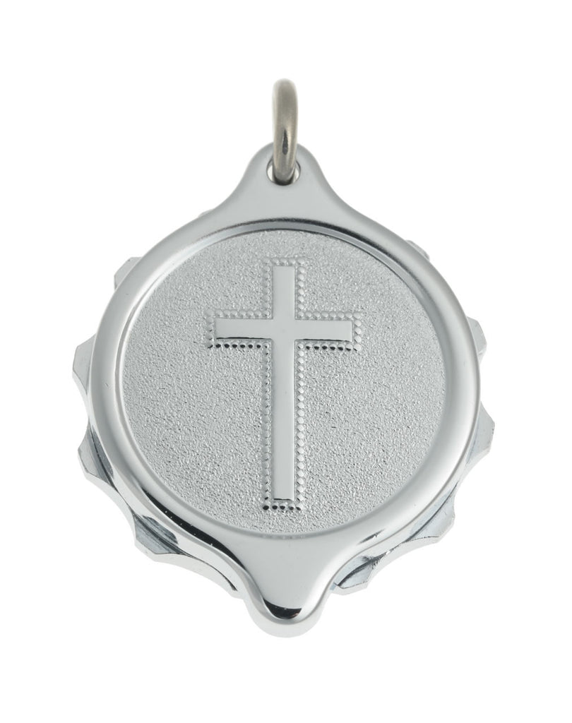Chrome Plated Pendants - Christian Cross