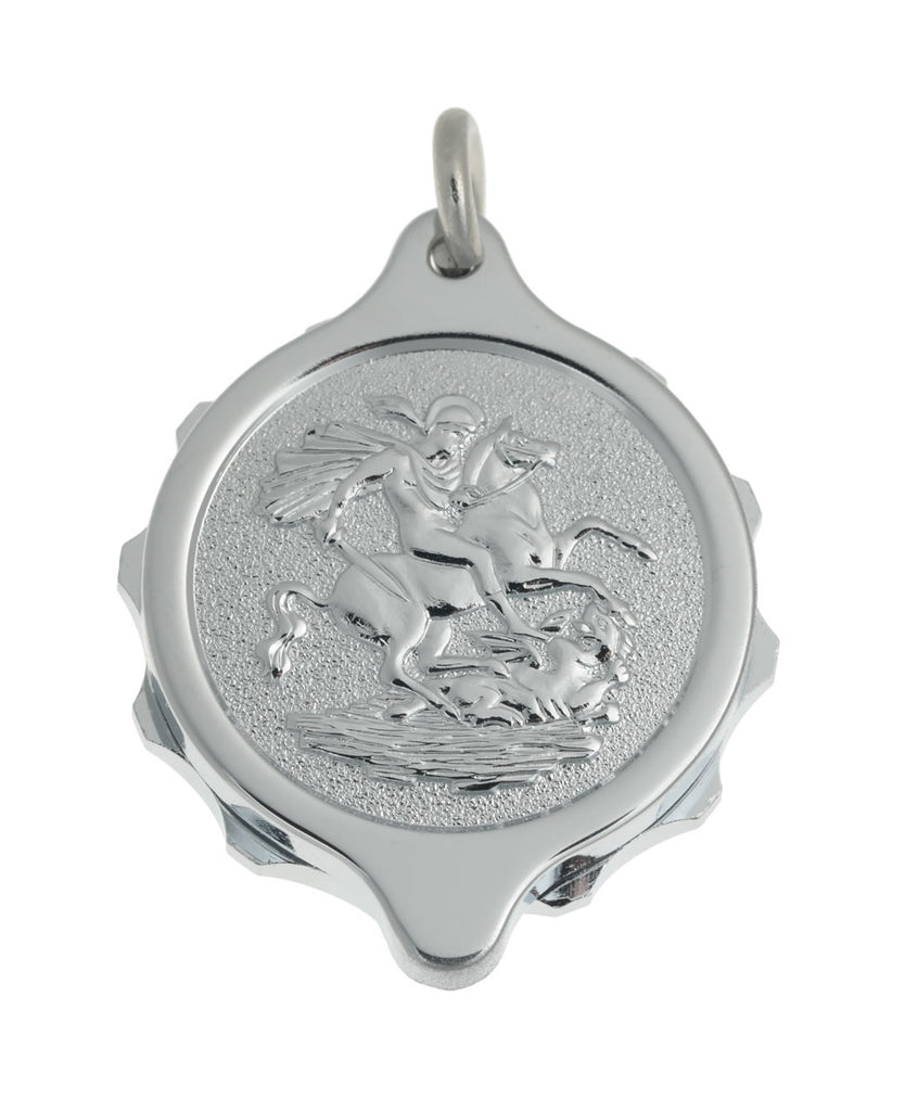 Chrome Plated Pendants - St George & Dragon