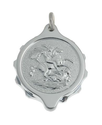 Chrome Plated Pendants - St George & Dragon on 22