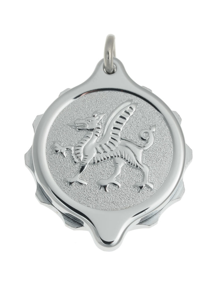 chrome Plated Pendants - Welsh Dragon  221 166