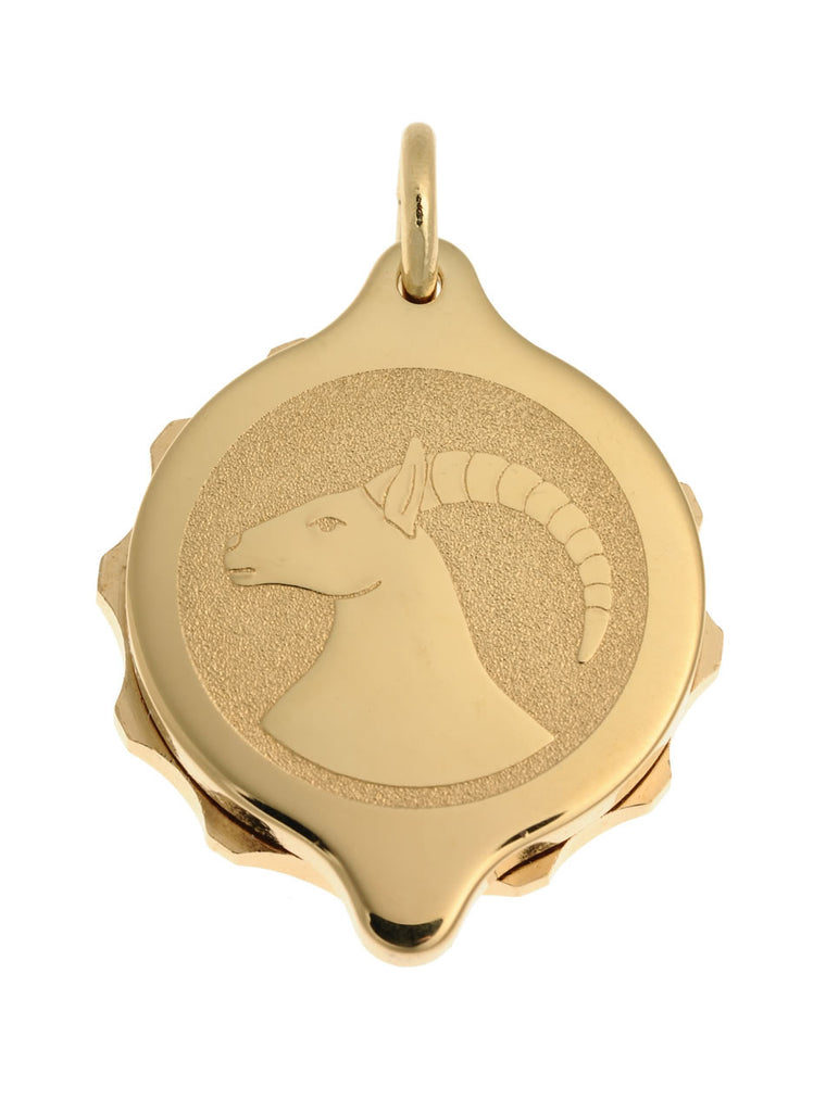 Gold Plated Zodiac Pendant and Chain