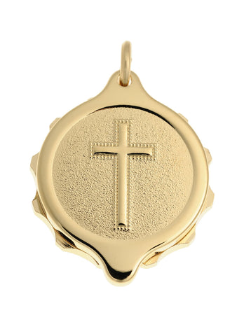 Gold Plated Christian Cross Pendant and Chain