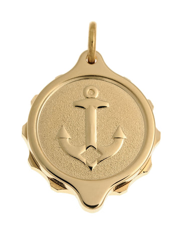 Gold Plated Anchor Pendant and Chain