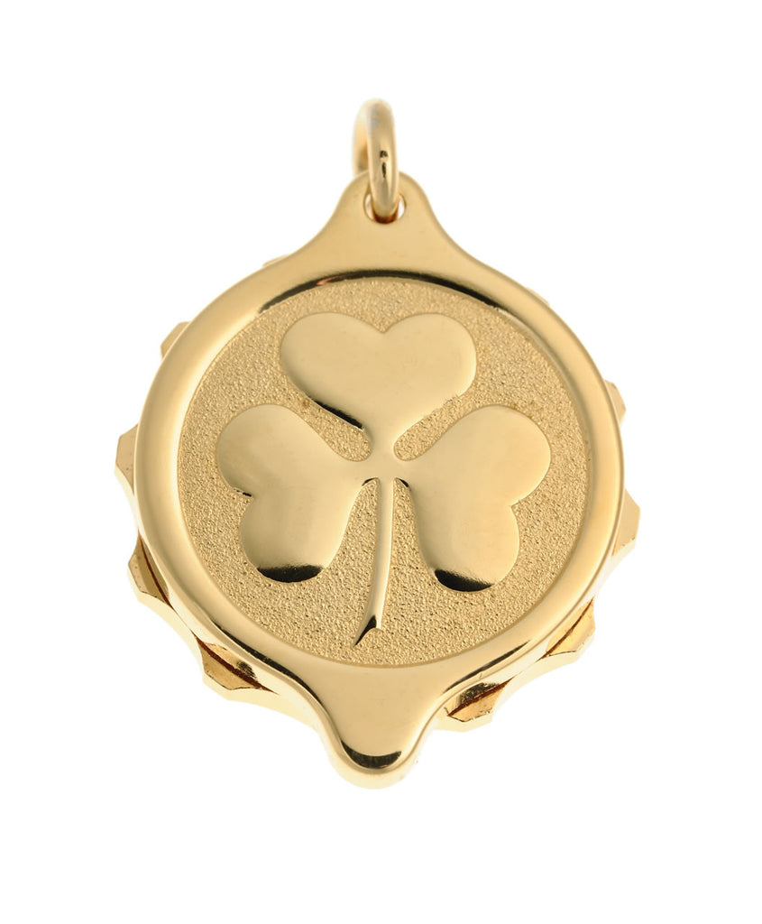 Gold Plated Shamrock Pendant and Chain