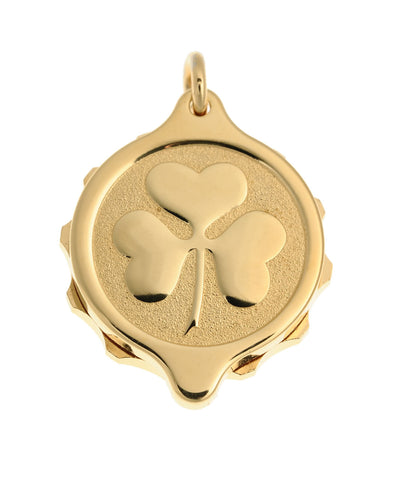 Gold Plated Shamrock Pendant with 22