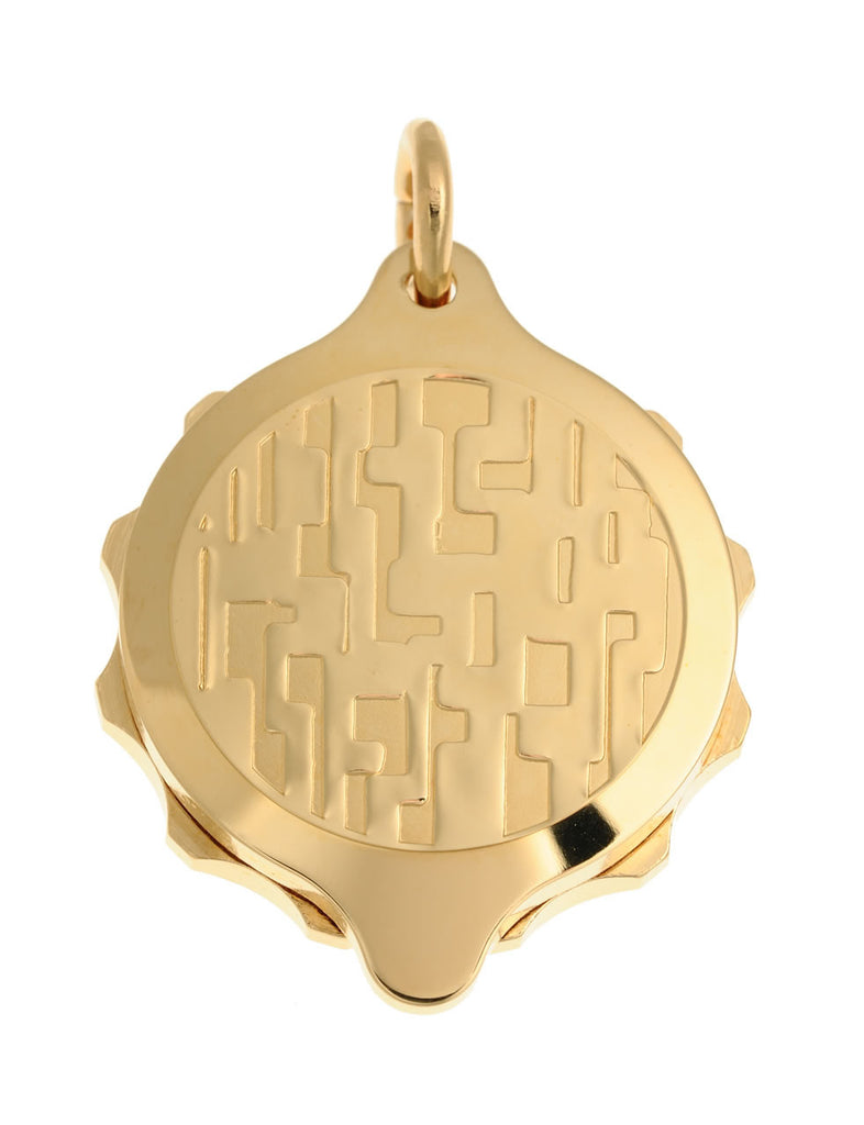 Gold Plated Modern Design Pendant and Chain