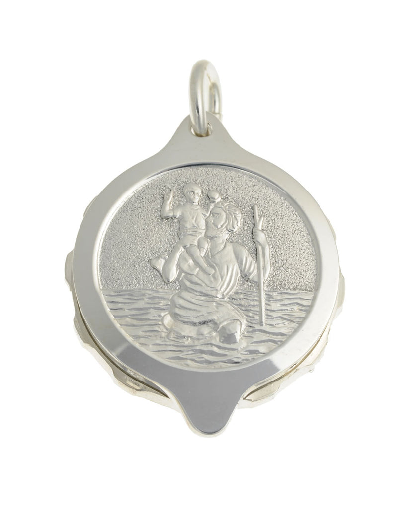 Sterling silver st christopher pendant with chain 50cm 20 sterling silver st christopher pendant with chain 50cm 20 chain mozeypictures Choice Image