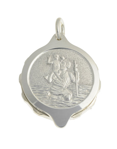 "Sterling Silver St Christopher Pendant with chain (50cm / 20"" chain)"