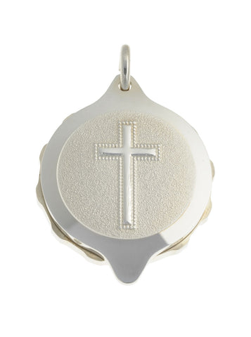 "Sterling Silver Christian Cross Pendant with chain (50cm / 20"" chain)"