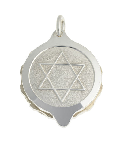 "Sterling Silver Star of David Pendant with chain (50cm / 20"" chain)"