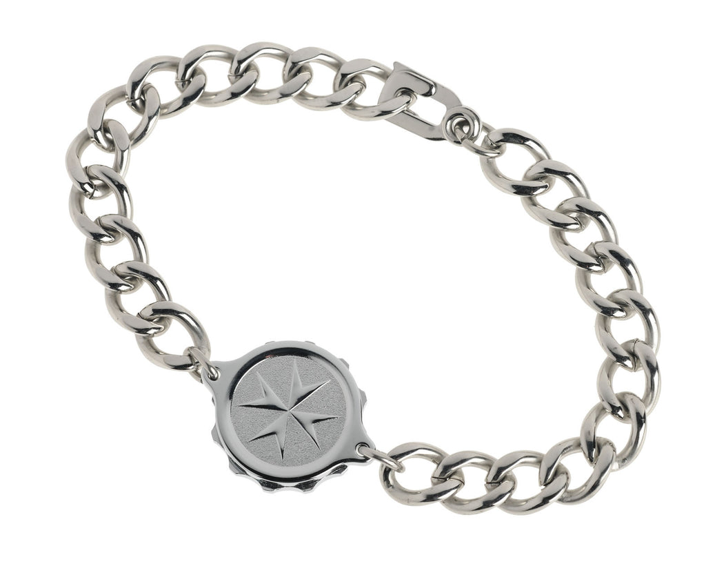 Chrome Plated Bracelet with St John / Malta Cross