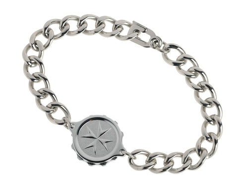 Chrome Plated Bracelet with St John / Malta Cross GENTS 231132