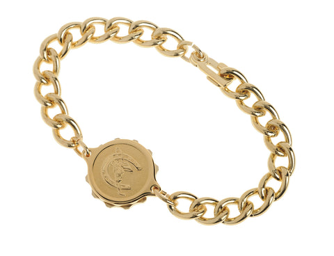 Gold Plated Bracelet & Horseshoe Capsule