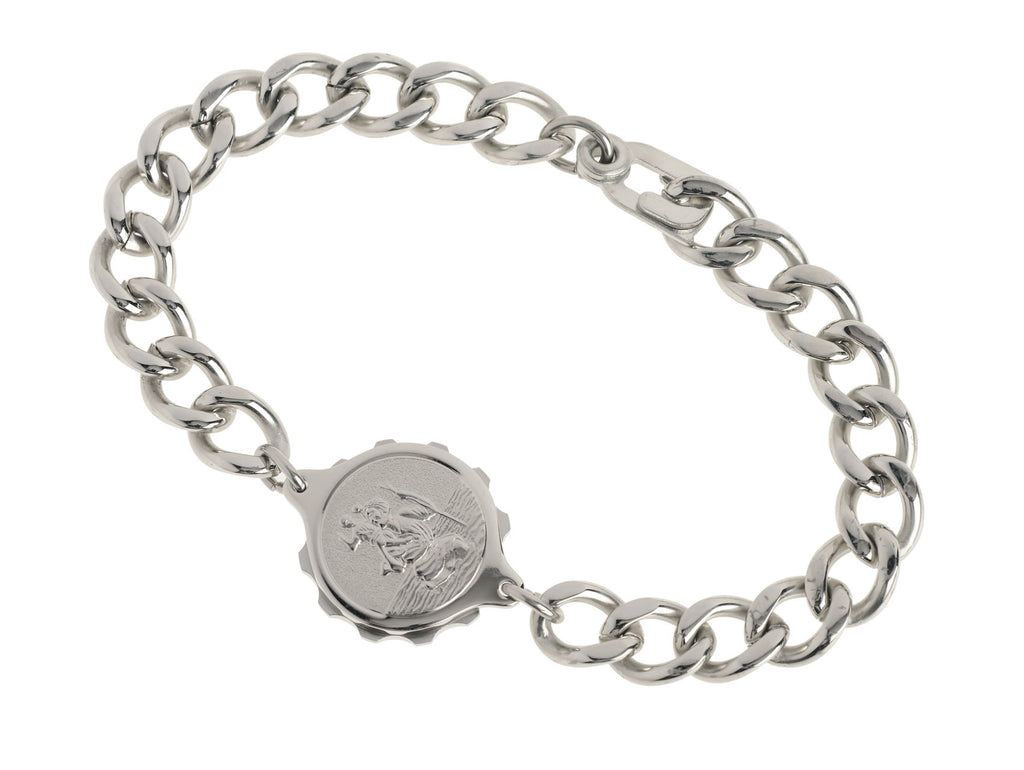 Stainless Steel Bracelet with St Christopher Capsule
