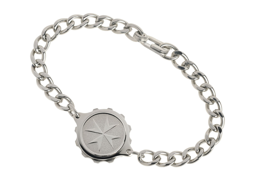 Stainless Steel Bracelet with St John / Malta Cross GENTS  235532