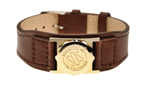 Gold Plated Capsule (18mm) & Leather Strap