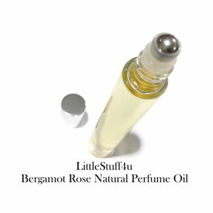 Essential Oil Natural Perfume - Bergamot Rose - LittleStuff4u Minerals