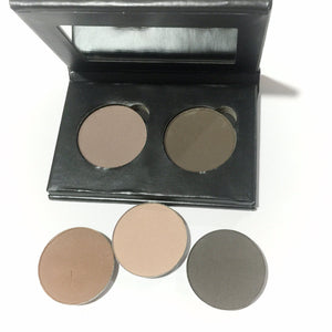 Organic Pressed Eye Brow Powder Duo - LittleStuff4u Minerals
