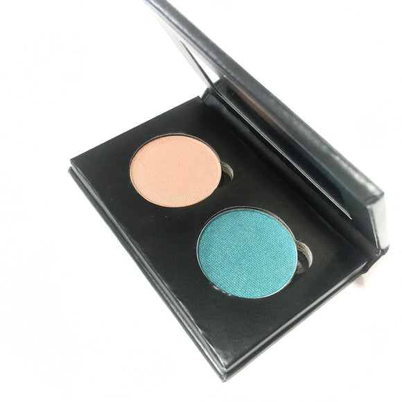 Pressed Eye Shadow Duo - Peach Escape - LittleStuff4u Minerals