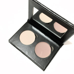 Pressed Eye Shadow Duo - Pink Bisque - LittleStuff4u Minerals