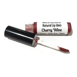 Organic Lip Gloss - Cherry Wine - LittleStuff4u Minerals