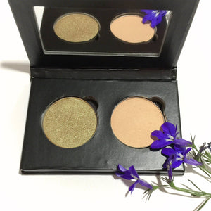 Organic Pressed Eye Shadow Duo - Moss Trinket - LittleStuff4u Minerals
