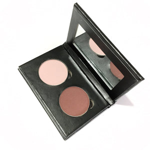 Pressed Eye Shadow Duo - Pink Wine - LittleStuff4u Minerals