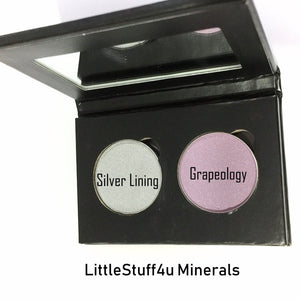Pressed Eye Shadow Duo - Silver Grape - LittleStuff4u Minerals