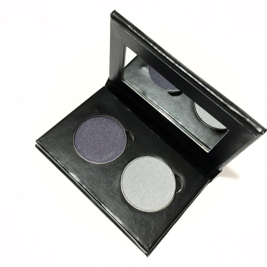 Pressed Eye Shadow Duo - Silver Night - LittleStuff4u Minerals