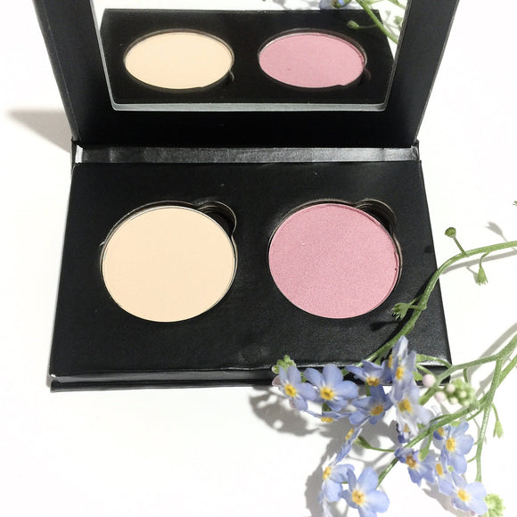 Organic Pressed Eye Shadow Duo - Pink Vanilla