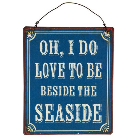 Beside The Seaside Mini Metal Sign
