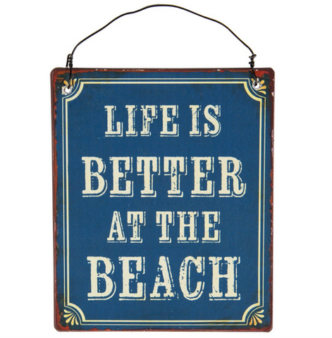 Life Is Better At The Beach Mini Metal Sign