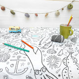 Seaside Colour-in Tablecloth