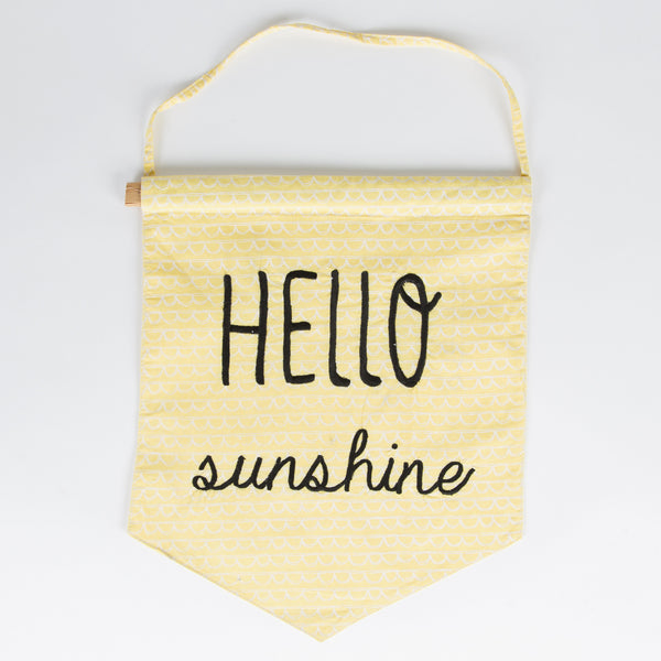 Hello Sunshine Fabric Banner