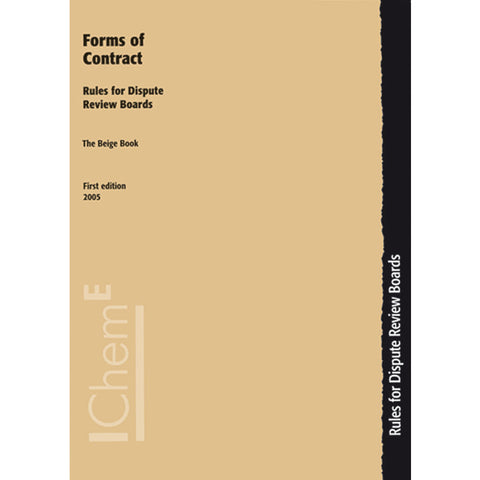 The Beige Book, Rules for Dispute Review Boards, 1st Edition, 2005, printable PDF
