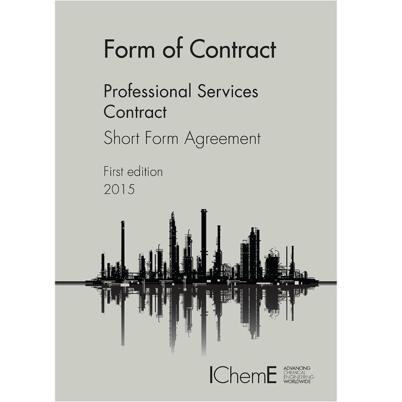 The Silver Book Short Form - Professional Services Contract, 1st Edition, 2016, printable PDF