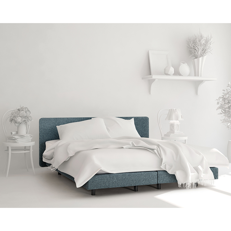 Boxspring essentials collectie recor bedding Joy in blauwe stof
