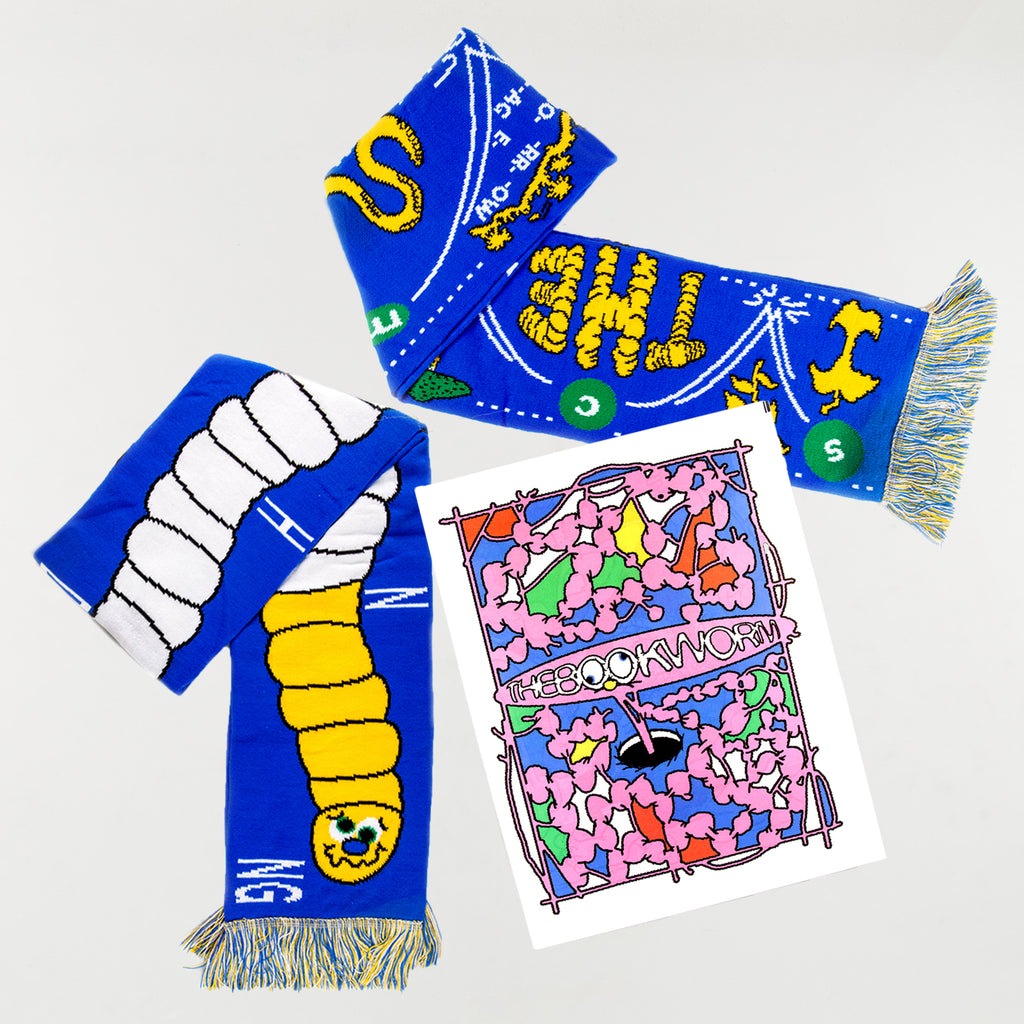 'The Bookworm' Scarf & Zine Pack by Taylor Cheverall - 1