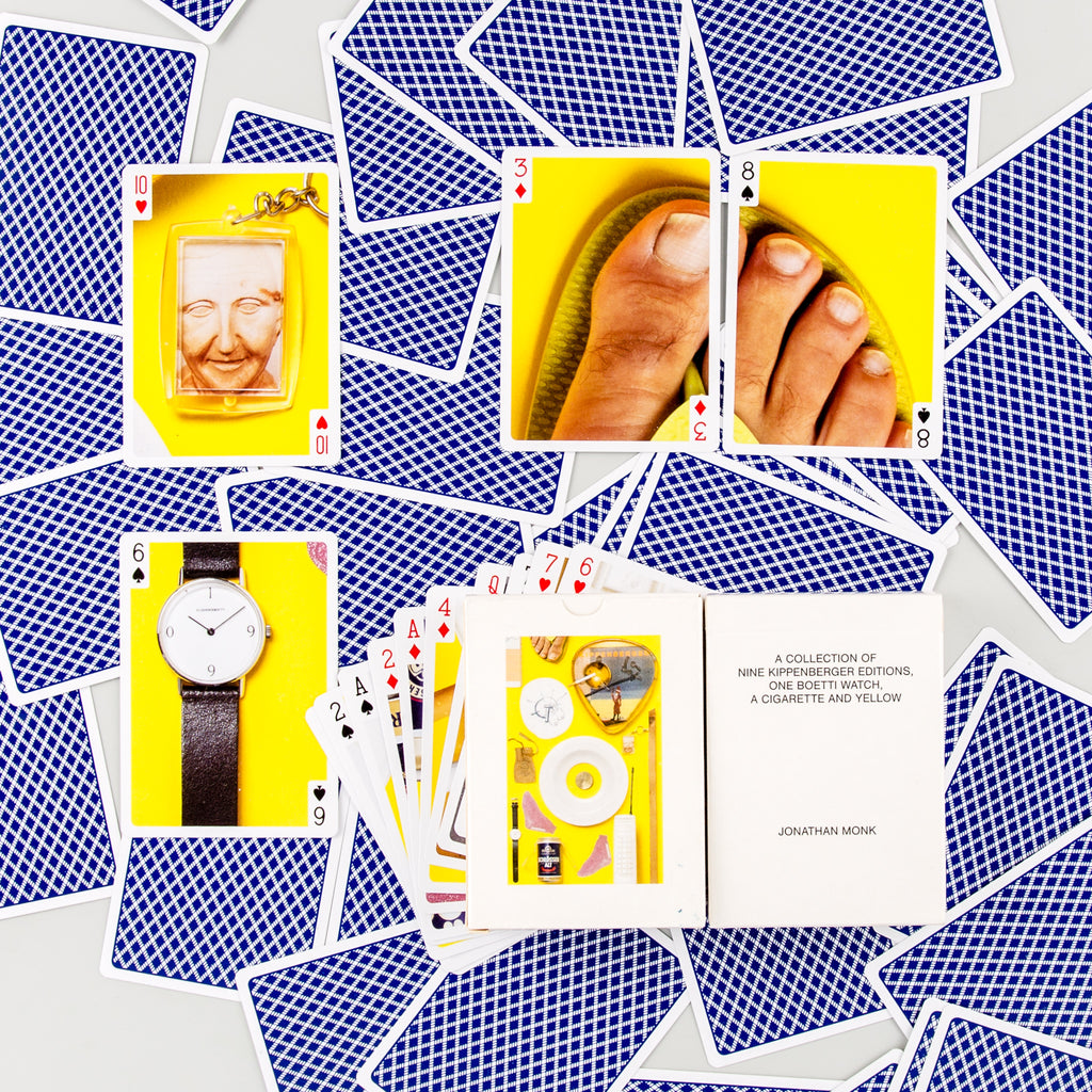 A collection of nine Kippenberger editions, one Boetti watch, a cigarette and yellow by Jonathan Monk - 1