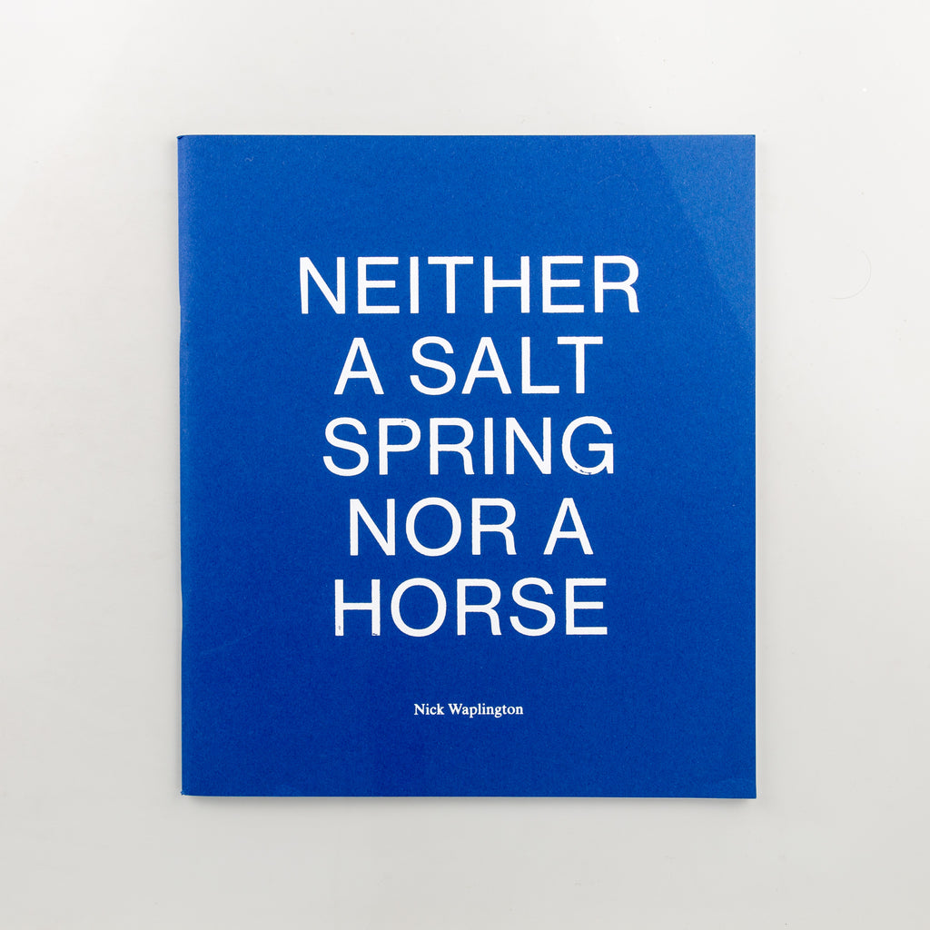 Neither a Salt Spring Nor a Horse by Nick Waplington - 178