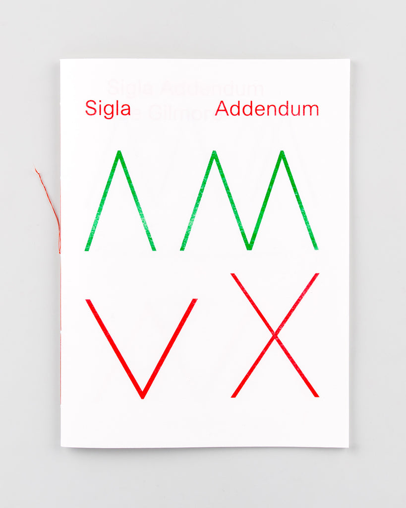 Preorder: Sigla Addendum by Joe Gilmore - 1