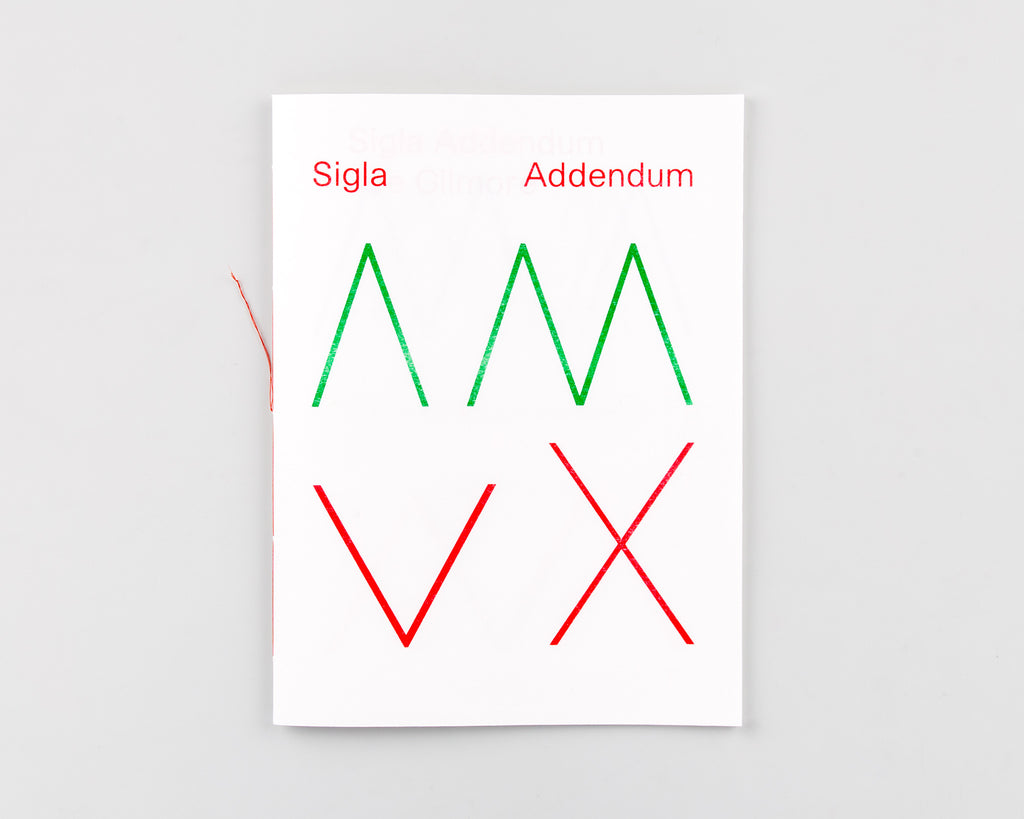 Sigla Addendum by Joe Gilmore - 89