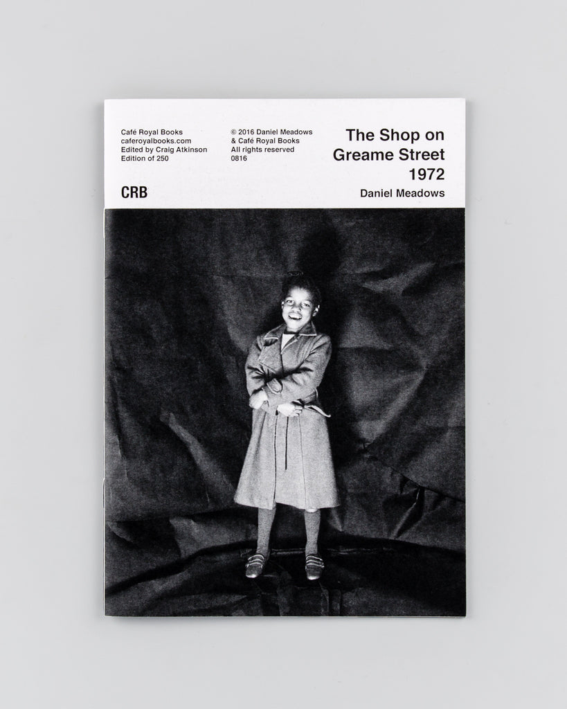 The Shop on Greame Street 1972 by Daniel Meadows - Cover