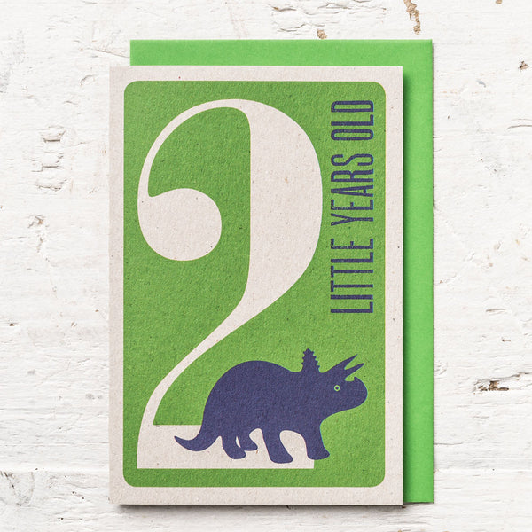 Age 2 Dinosaur Birthday Card