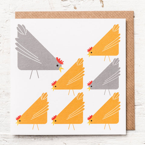Simple Chickens Greeting Card